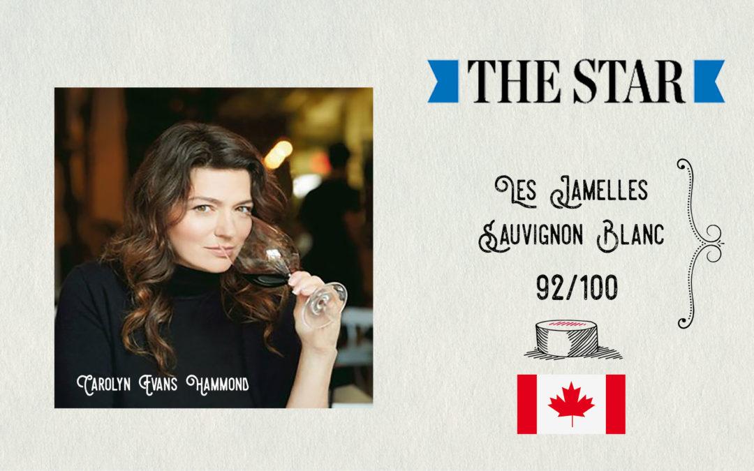 Canada – The Star – 92/100 for our Sauvignon Blanc!